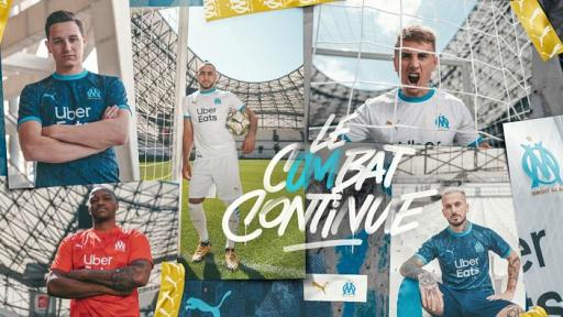 Las arquitectónicas camisetas 2020-21 del Olympique de Marsella